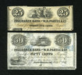 Obsoletes By State:Louisiana, New Orleans, LA- Insurance Bank of W.B. Partee & Co. 25¢; 50¢ July 1, 1851. ... (Total: 2 notes)