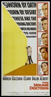 """The Young Doctors (United Artists, 1961). Three Sheet (41"""" X 81"""") and Lobby Card Set of 8 (11"""" X 14""""..."""