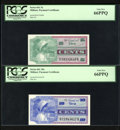 Military Payment Certificates:Series 661, Series 661 5¢; 10¢; 25¢; 50¢; $1; $5. ... (Total: 6 notes)