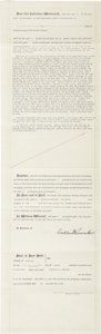 Autographs:U.S. Presidents, Franklin D. Roosevelt: Partially Printed Document Signed asPresident....