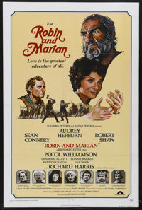 "Robin and Marian (Columbia, 1976). One Sheet (27"" X 41""). Adventure. Starring Sean Connery, Audrey Hepburn, Ro..."