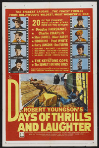 "Days of Thrills and Laughter (20th Century Fox, 1961). One Sheet (27"" X 41""). Documentary. Starring Douglas Fa..."
