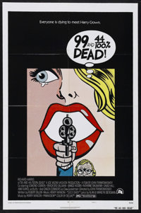 "99 and 44/100% Dead (20th Century Fox, 1974). One Sheet (27"" X 41"") Style A. Crime. Starring Richard Harris, E..."