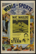 "Movie Posters:Sports, World of Sports Stock Poster (Columbia, 1944). One Sheet (27"" X 41""). Sports. Narrated by Bill Stern. This episode in the se..."