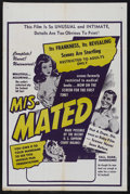 """Movie Posters:Documentary, Mis-Mated (Federated Films, 1952). One Sheet (27"""" X 41""""). Documentary. Directed by Gordon Schindler. Edge wear with some min..."""