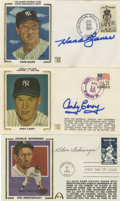 Autographs:Letters, Large Group of Signed First Day Covers Lot of 16. Presented aresixteen signed First Day Covers, many of which are Hall of ...