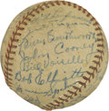 Autographs:Baseballs, 1947 Boston Braves Team Signed Baseball. The ONL (Frick) baseballholds 25 signatures from the 1947 Braves tram. Notable au...
