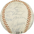 Autographs:Baseballs, 1974 New York Mets Team Signed Baseball. 1974 saw the New York Metsfinish way back in the standing despite some of the gre...