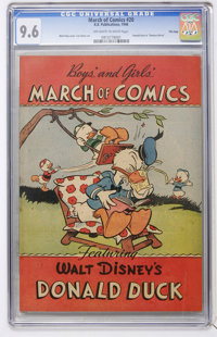 March of Comics #20 Donald Duck - File Copy (K. K. Publications, Inc., 1948) CGC NM+ 9.6 Off-white to white pages