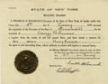 Autographs:U.S. Presidents, Franklin D. Roosevelt: Extradition Document Signed as New York Governor. ...