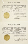 Autographs:U.S. Presidents, Franklin D. Roosevelt: Four Extradition Documents Signed as NewYork Governor.... (Total: 4 Items)
