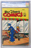 Golden Age (1938-1955):Cartoon Character, Walt Disney's Comics and Stories #79 File Copy (Dell, 1947) CGC NM-9.2 Off-white pages....