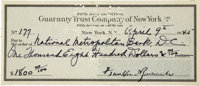 Franklin D. Roosevelt: Archive of Forty-Seven Checks Signed and his Final Check Register