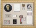 Autographs:U.S. Presidents, Franklin D. and Eleanor Roosevelt: Memorabilia Display Including Typed Letters Signed as President and First Lady....