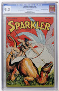"Golden Age (1938-1955):Adventure, Sparkler Comics #39 Davis Crippen (""D"" Copy) pedigree (United Features Syndicate, 1944) CGC NM- 9.2 Off-white pages...."