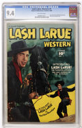 Golden Age (1938-1955):Western, Lash LaRue Western #1 (Fawcett, 1949) CGC NM 9.4 Off-whitepages....
