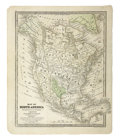 Miscellaneous:Maps, 1839 Map of North America, Texas Highlighted, Smith's Geographyfor Schools,...