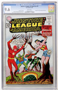 Silver Age (1956-1969):Superhero, Justice League of America #9 (DC, 1962) CGC NM+ 9.6 White pages....