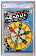 Silver Age (1956-1969):Superhero, Justice League of America #6 (DC, 1961) CGC NM 9.4 White pages....