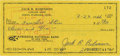 Autographs:Celebrities, Jackie Robinson Signed Check ...