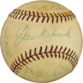 Autographs:Baseballs, 1942 Brooklyn Dodgers Team Signed Baseball. The 1942 BrooklynDodgers finished second to the St. Louis Cardinals that year ...