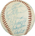 Autographs:Baseballs, 1986 Chicago Cubs Team Signed Baseball. Rawlings Chicago Cubssouvenir baseball offered here makes great use of the availab...