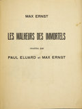 Books:Signed Editions, Max Ernst. Les Malheurs des Immortels. By Paul Eluard and Max Ernst. Paris: Libraire Six, 1922....