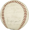 Autographs:Baseballs, 1967 San Francisco Giants Team Signed Baseball. The ONL (Giles)baseball hosts 27 signatures from the 1967 team. Included a...