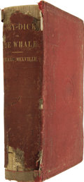 Books:First Editions, Herman Melville. Moby-Dick; or, The Whale. New York: Harper& Brothers, 1851....