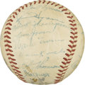 Autographs:Baseballs, 1952 New York Giants Team Signed Baseball. The evenly toned ONL(Giles) baseball carries 23 signatures from the star-studde...