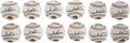 Autographs:Baseballs, Mario Andretti Single Signed Fotoballs Lot of 12. Mario Andretti,perhaps the most successful American auto racer, is the on...