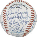 Autographs:Baseballs, 1992 All-Star Game Old Timers Signed Baseball. The 1992 Old Timersgame at the All-Star festivities boasted some of the gre...