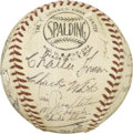 Autographs:Baseballs, 1954 Milwaukee Braves Team Signed Baseball. The 1954 edition of the Milwaukee Braves could boast many future great players....