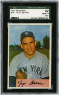 Baseball Cards:Singles (1950-1959), 1954 Bowman Yogi Berra #161 SGC NM-MT+ 92. The full-color artworkutilized by the 1954 Bowman baseball issue makes it one of...