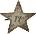Military & Patriotic:Civil War, Civil War Period Silvered Hat Badge of the 17th Texas Infantry....