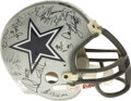 Football Collectibles:Helmets, 1992 Dallas Cowboys Team Super Bowl Champions Signed Helmet. Just three years removed from their embarrassing 1-15 season, ...