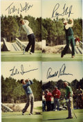 Golf Collectibles:Autographs, Group Lot of Single Signed Photographs (Palmer, Nicklaus, etc.) Lotof 14. Some of the greats of golf have added signatures...
