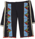 American Indian Art:Beadwork and Quillwork, A PAIR OF SIOUX MAN'S BEADED HIDE AND CLOTH LEGGINGS. c. 1900...(Total: 2 Items)