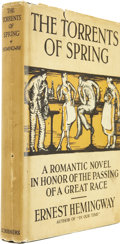 Books:First Editions, Ernest Hemingway. The Torrents of Spring. A RomanticNovel in Honor of the Passing of a Great Race. New York: Ch...