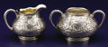 Silver Holloware, American:Creamers and Sugars, AN AMERICAN SILVER AND SILVER GILT CREAMER AND SUGAR BOWL. GorhamManufacturing Company, Providence, Rhode Island, 1894. Cha...(Total: 2 Items)