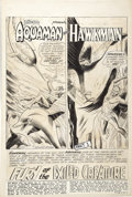 Original Comic Art:Splash Pages, Howard Purcell - Brave and Bold #51, Aquaman and Hawkman SplashPage 1 Original Art (DC, 1963)....