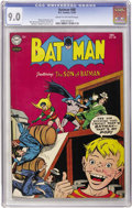 Golden Age (1938-1955):Superhero, Batman #88 (DC, 1954) CGC VF/NM 9.0 Cream to off-white pages....