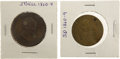 Political:Tokens & Medals, John Bell and Stephen A. Douglas: Two 1860 Presidential Campaign Tokens.... (Total: 2 Items)