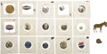 Political:Pinback Buttons (1896-present), Presidential Campaigns: Lot of Seventeen Assorted Pins.... (Total: 17 Items)