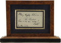 Autographs:U.S. Presidents, Franklin Roosevelt Autograph Note Signed, as President of theUnited States....