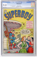 Golden Age (1938-1955):Superhero, Superboy #34 (DC, 1954) CGC VF/NM 9.0 Off-white pages...