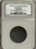 1787 COPPER New Jersey Copper, Large Planchet, Plain Shield--Environmental Damage--NCS. Fine Details. NGC Census: (0/0)...