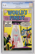 Silver Age (1956-1969):Superhero, World's Finest Comics #104 (DC, 1959) CGC NM 9.4 Cream to off-white pages....