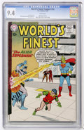 Silver Age (1956-1969):Superhero, World's Finest Comics #105 (DC, 1959) CGC NM 9.4 White pages....
