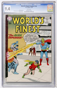 World's Finest Comics #105 (DC, 1959) CGC NM 9.4 White pages
